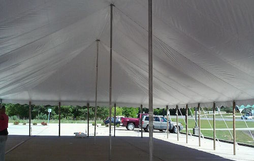 Pole Tent Interior & Great American Tent: Party Rentals for the Birmingham Area